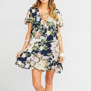 Show me your mumu KYLIE LACE-UP DRESS